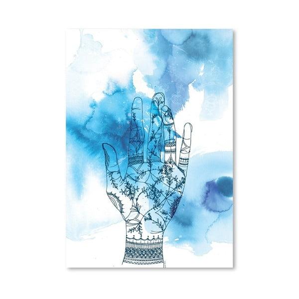Plakat Blue Wash Hand, 30x42 cm