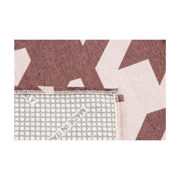 Wytrzymały dywan kuchenny Webtapetti Pied de Poule Brown,60x150cm