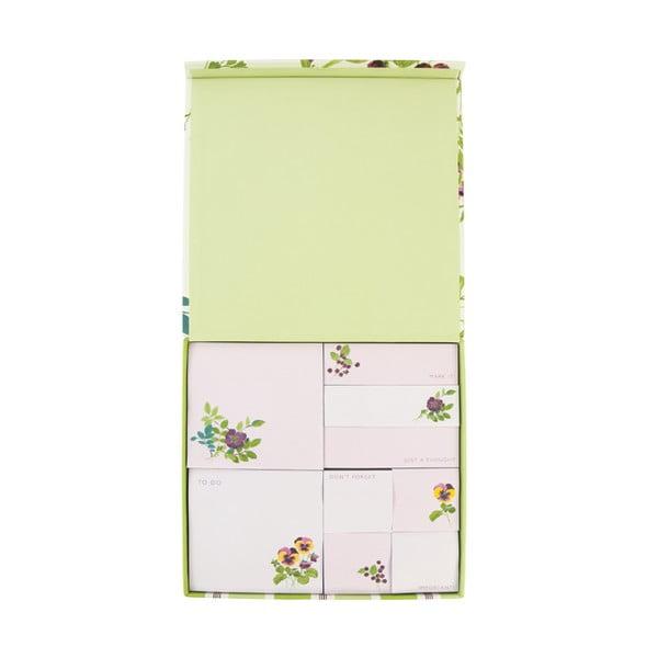 Zestaw bloczków z karteczkami samoprzylepnymi Laura Ashley Parma Violets by Portico Designs