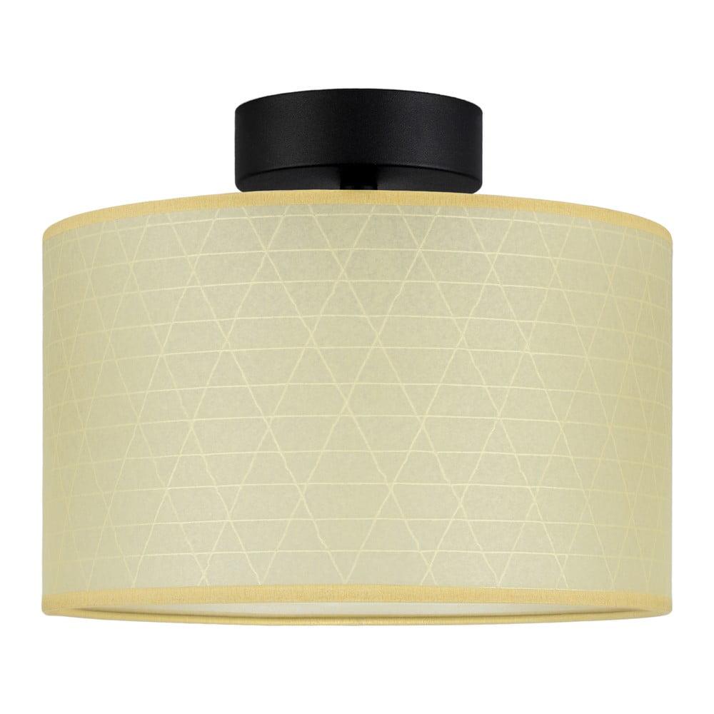 Beżowa lampa sufitowa ze wzorem trójkątów Sotto Luce Taiko