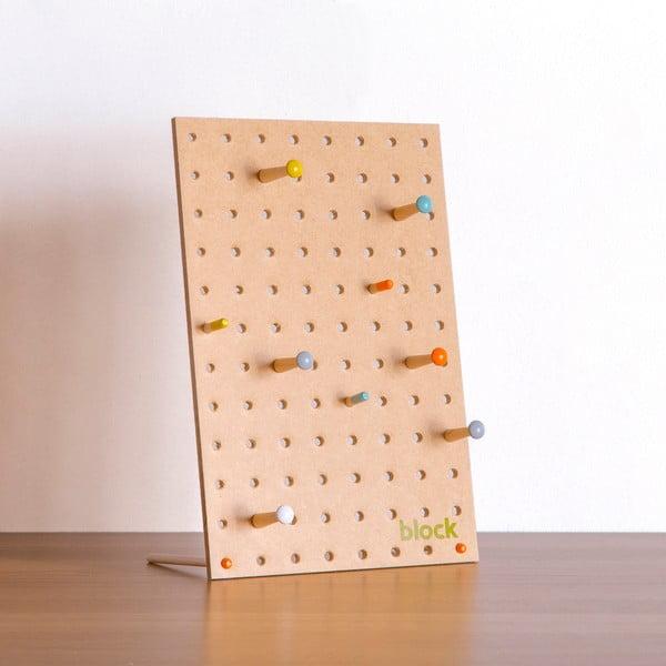 Wielofunkcyjna tablica Pegboard 30x20 cm, naturalny kolor