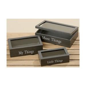 Zestaw 3 pudełek Boltze Gris