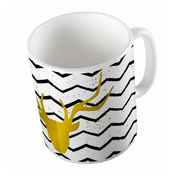 Ceramiczny kubek Gold Deer, 330 ml