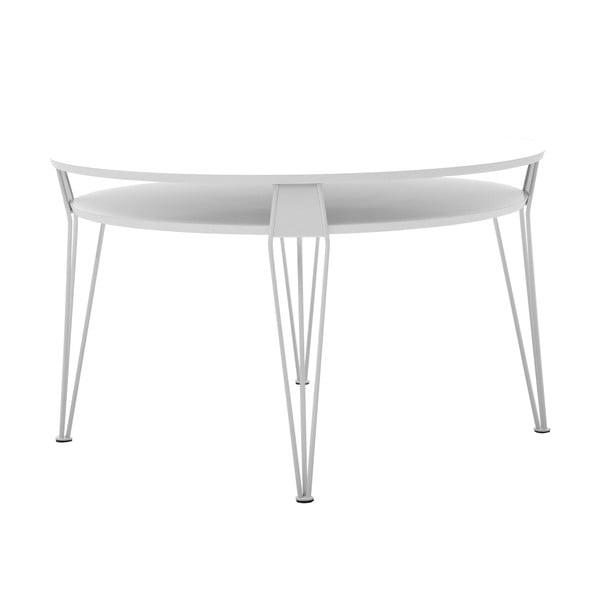 Biały stolik z białymi nogami RGE Ester
