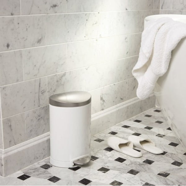 Kosz łazienkowy simplehuman 10 l, biały