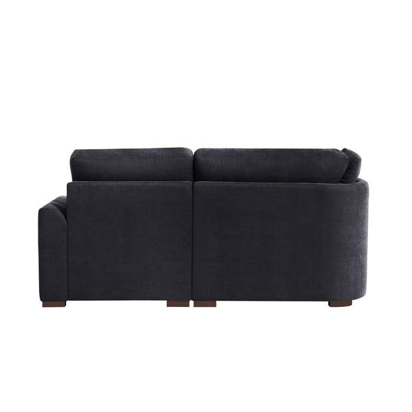 Sofa narożna Jalouse Maison Irina, prawy róg, czarna