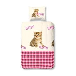Pościel Cat Sweet Pink, 140x200 cm
