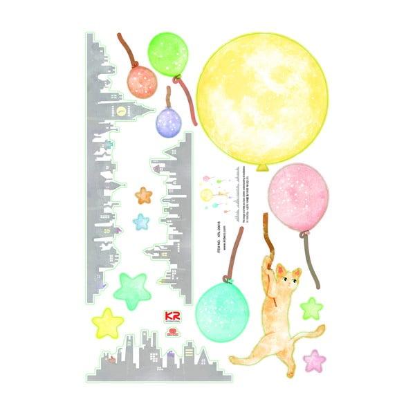 Naklejka świecąca Fanastick Cat And Moon