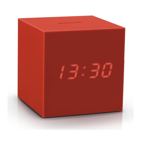 Czerwony budzik LED Gingko Gravitry Cube