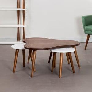 Stolik kawowy z krzesłami Bubble Walnut