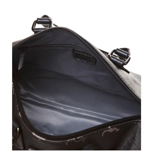 Skórzana torebka do ręki Canguru Kangaroo, czarna