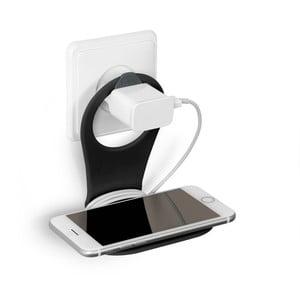 Czarny stojak na telefon Bobino Phone
