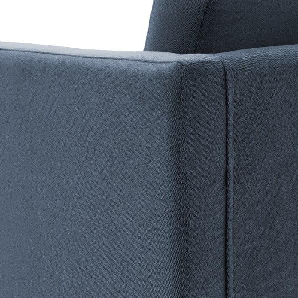 Sofa trzyosobowa VIVONITA Sondero Light Blue, czarne nogi