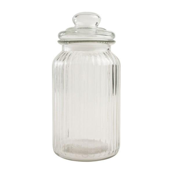 Pojemnik szklany T&G Woodware Ribbed, 1,3 l