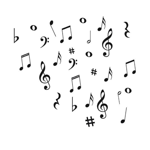 Naklejka dekoracyjna Music Notes