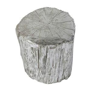 Stołek w srebrnym kolorze Kare Design Tronco, ⌀ 40 cm