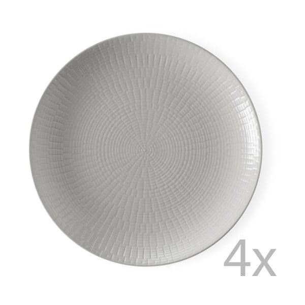 Zestaw 4 talerzyków deserowych Granaglie Gris, 21 cm