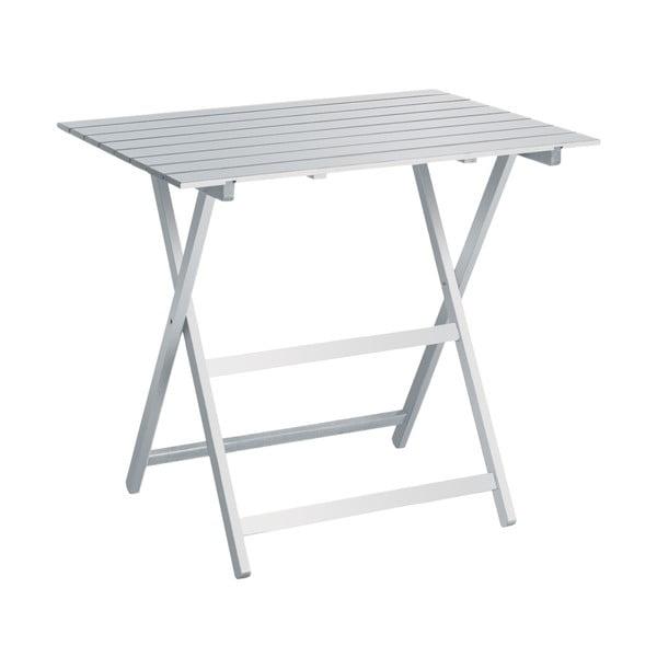 Biały stolik składany Valdomo, 60x80 cm