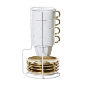 Zestaw 4 kubków na stojaku Espresso Tower