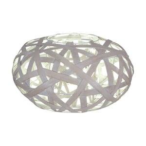 Szara lampa stołowa Naeve Korb