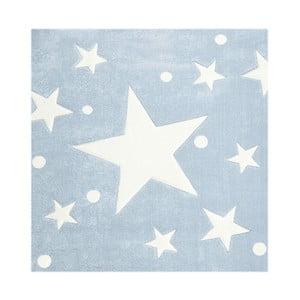 Niebieski dywan dziecięcy Happy Rugs Star Constellation, 140x140 cm