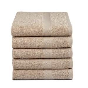 Zestaw 5 beżowych ręczników Ekkelboom, 50x100 cm
