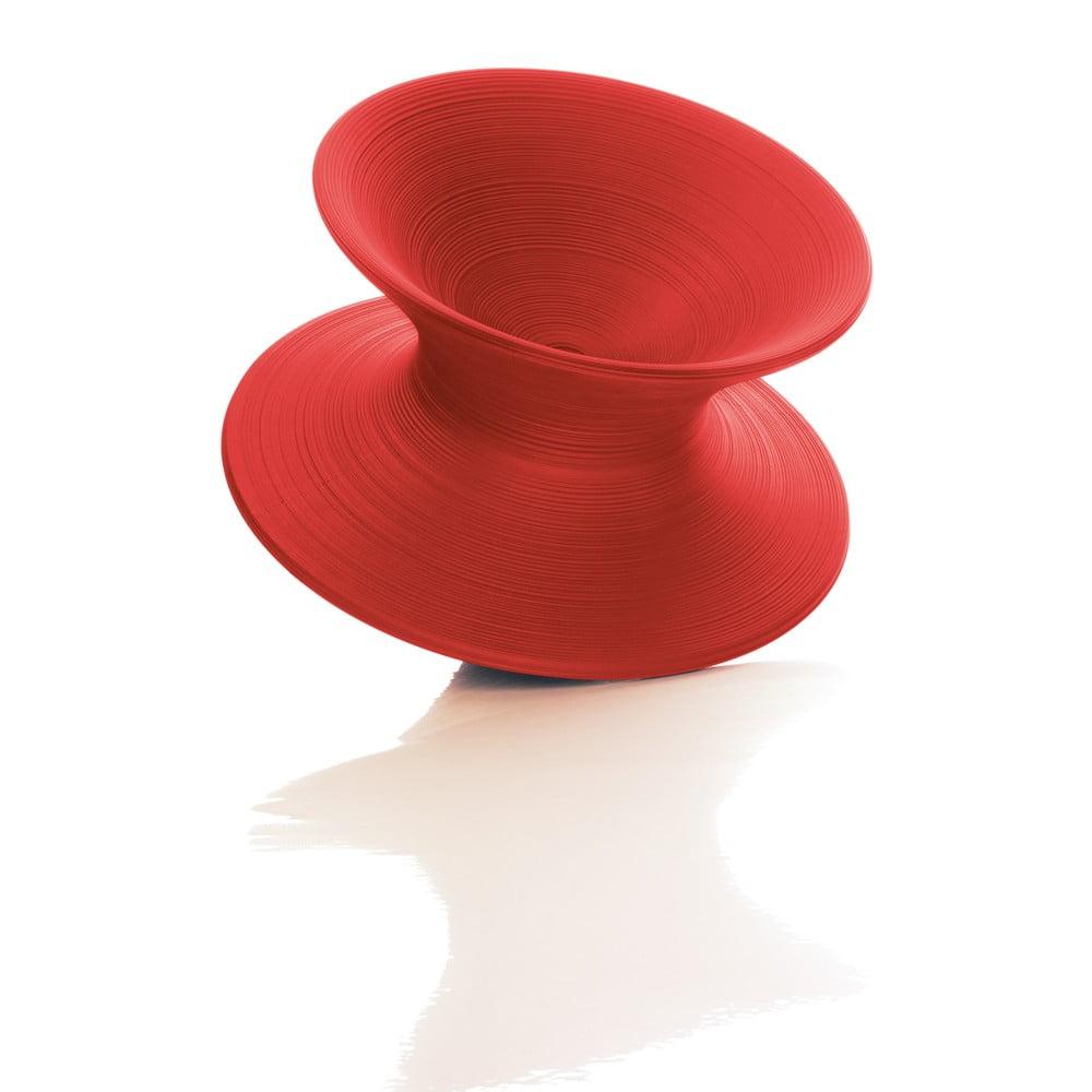 Czerwony fotel Magis Spun, ø 91 cm