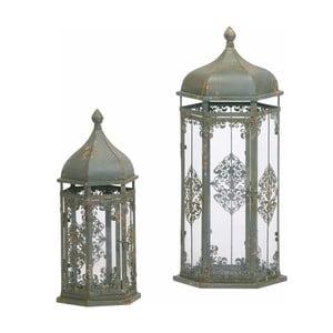 Komplet 2 lampionów Antique, 64 cm, zielony