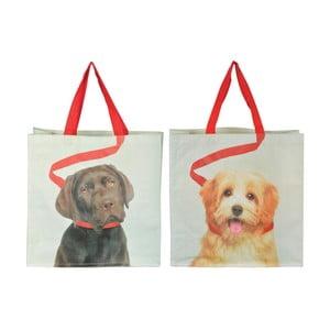 Zestaw 2 toreb Esschert Design Psy na smyczy