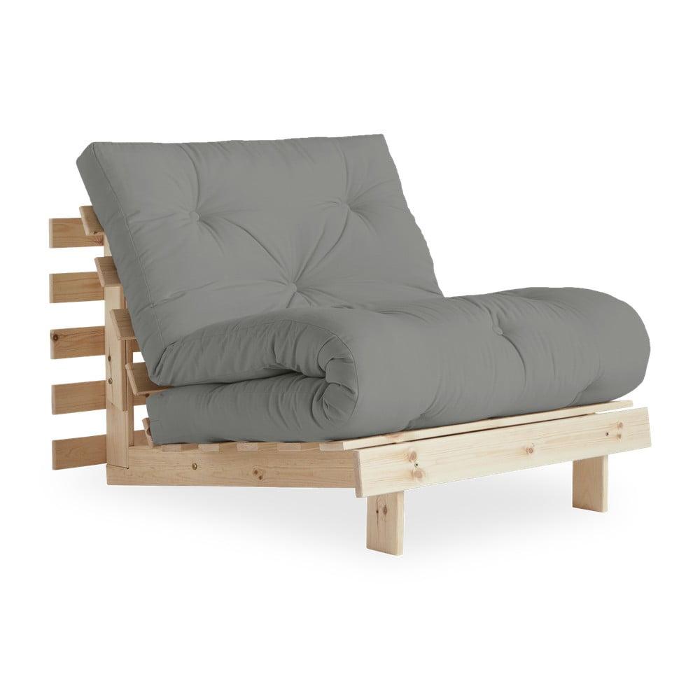 Fotel rozkładany Karup Design Roots Raw/Grey