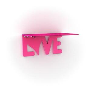 Półka Love, różowa