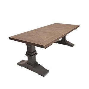 Szary stół do jadalni Canett Royal, 240 cm