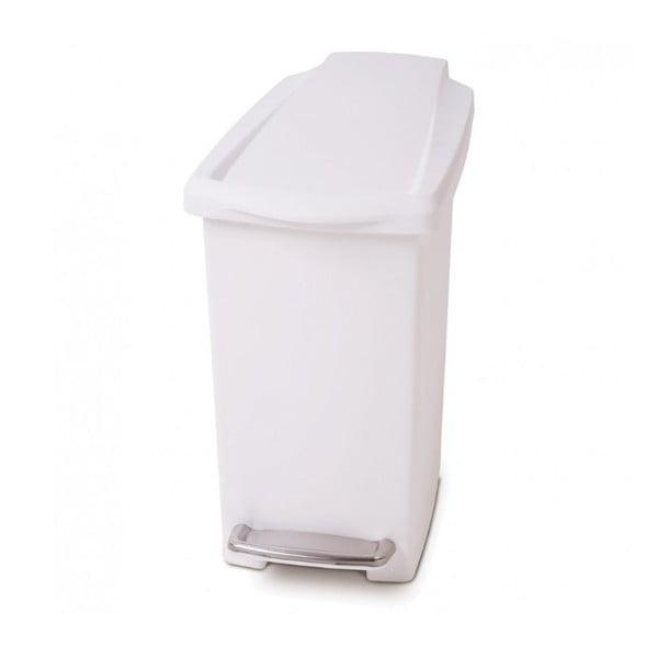 Kosz na śmieci z pedałem Gigi 10 l, biały