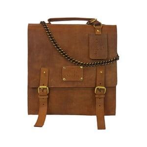 Skórzana torba vintage Frankie Fierce, camel