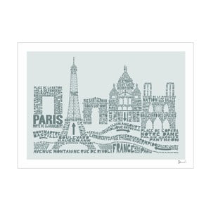 Plakat Paris Grey&Grey, 50x70 cm