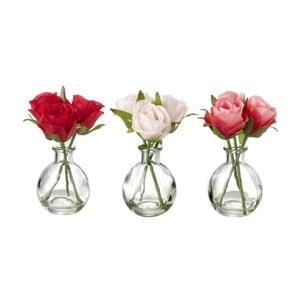 Zestaw 3 dekoracyjnych kwiatów Heaven Sends Rose Bunch