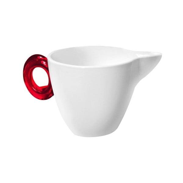 Dzbanuszek do mleka z czerwonym uchem