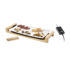 Ceramiczny elektryczny grill stołowy w bambusowej ramie Princess