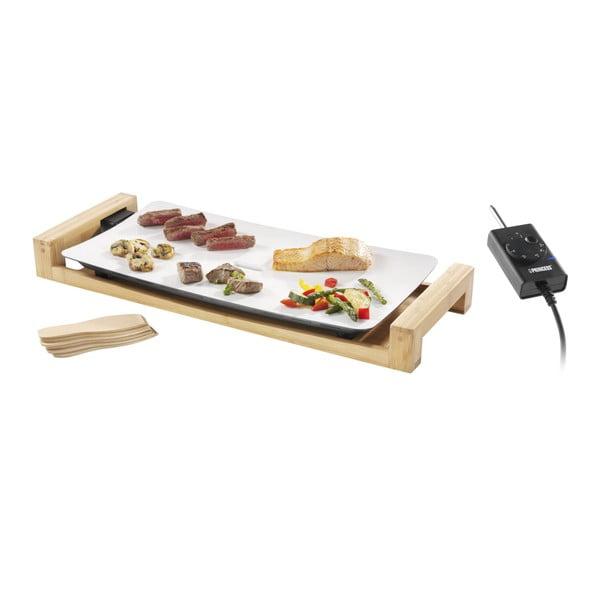 Ceramiczny elektryczny grill stołowy w bambusowej ramie Princess, moc 2500W