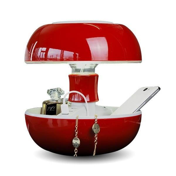 Lampa stołowa i ładowarka w jednym Joyo Classic, czerwona