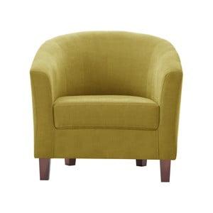 Żółty fotel Jalouse Maison Romy