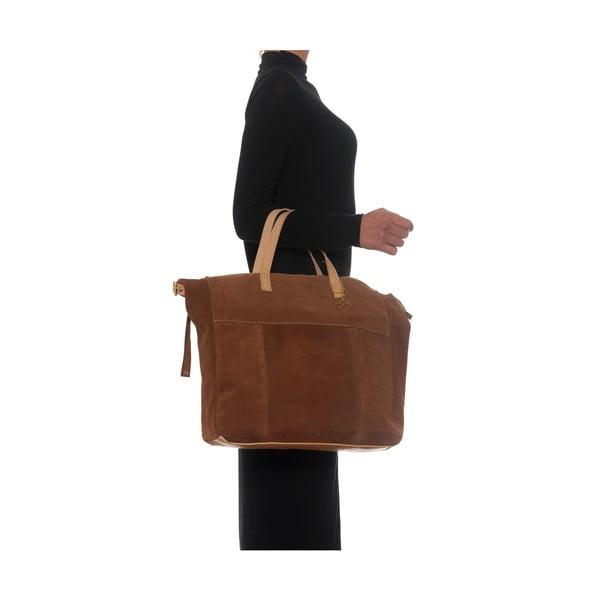 Skórzana torebka Renata Corsi 8026 Cognac