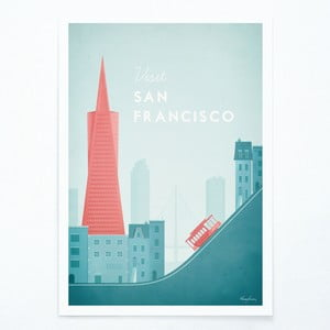 Plakat Travelposter San Francisco, A2