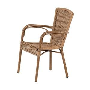 Brązowe ogrodowe krzesło sztaplowane Massive Home Granada