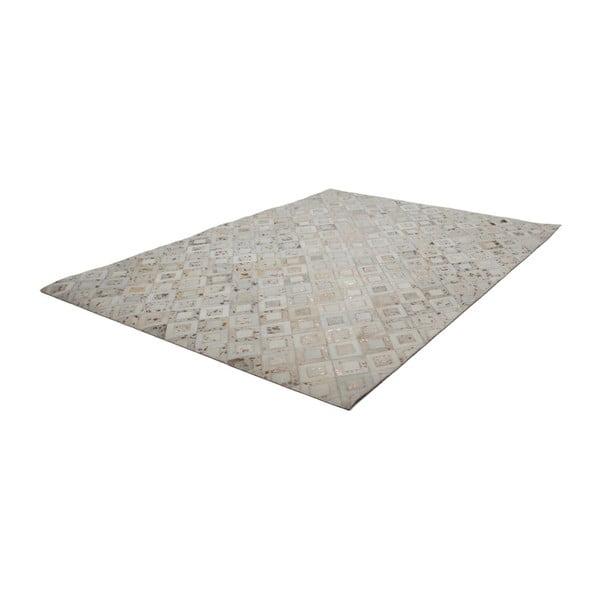 Kremowy skórzany dywan Dazzle, 120x170cm