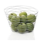Srebrny koszyk na owoce Andrea House Spiral