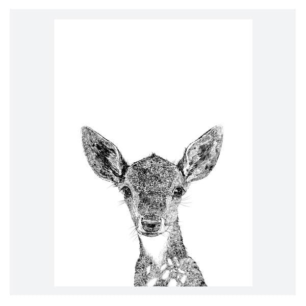 Plakat Darcy The Deer, 30x40 cm