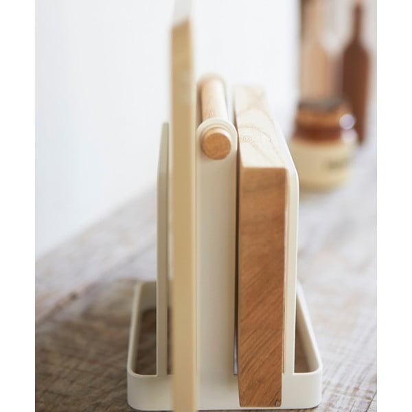 Biały stojak na deski do krojenia Yamazaki Tosca