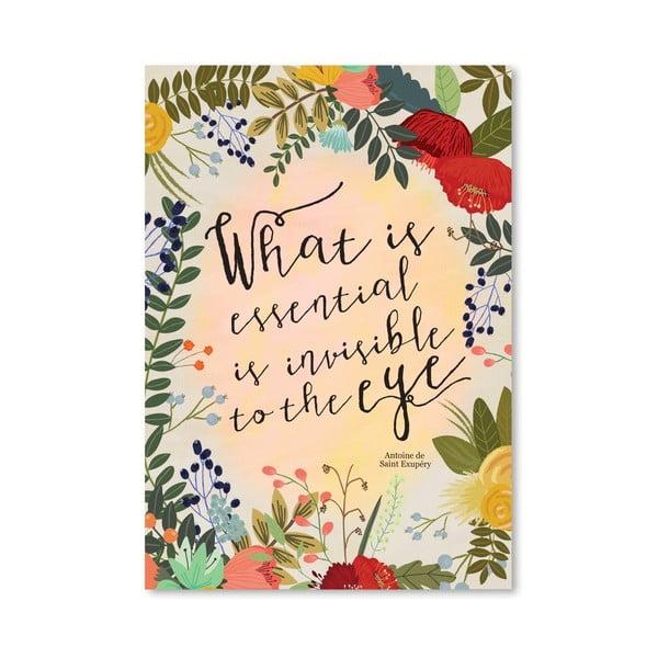 Plakat (projekt: Mia Charro) - What Is Essential