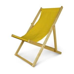 Regulowany leżak drewniany JustRest, żółty